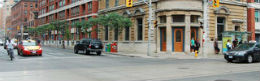 detail photo of the intersection at King and Sherbourne, at Kings Court